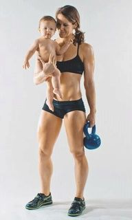 Mom-with-Kettlebell-and-Baby