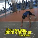 Una escalera para entrenar funcional