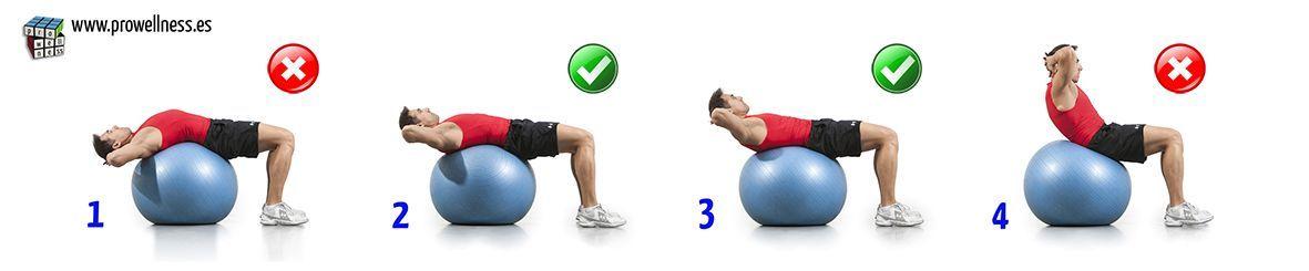 abdominales fitball rango