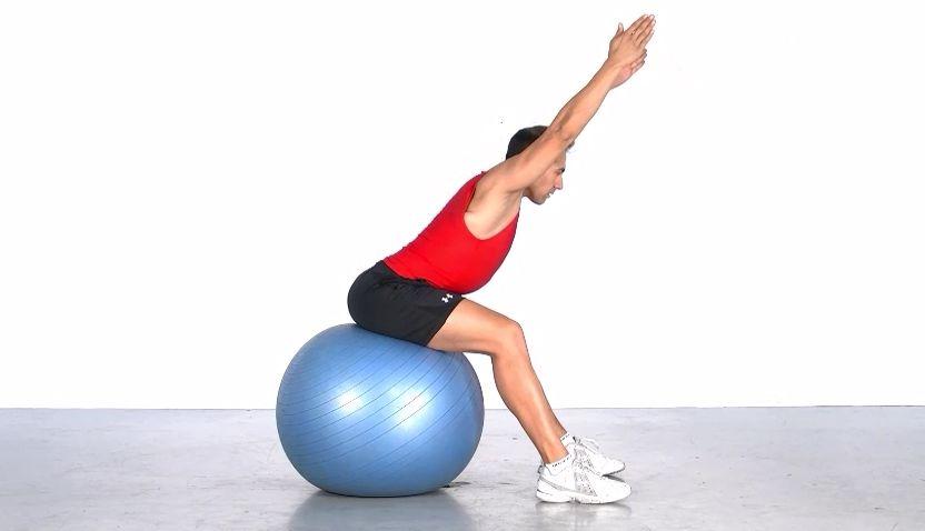 Estabiliza columna con el fitball