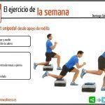 Esta semana; squat unipodal desde apoyo de rodilla
